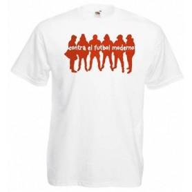 Working Class Records camiseta rayas rojas negras bordado blanco chica