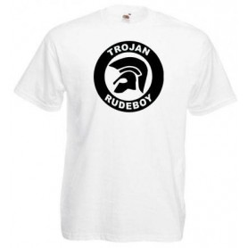 Working Class Records camiseta azul cuello azul