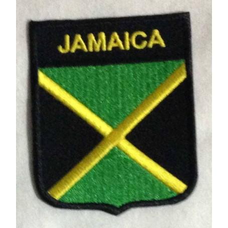 jamaica escudo parche bordado