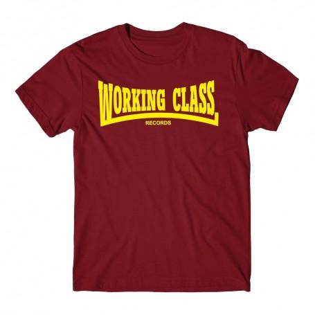 WORKING CLASS granate camiseta chico