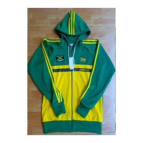 jamaicana capucha chaqueta