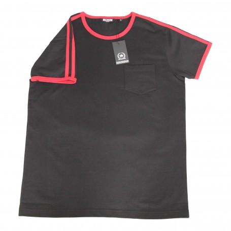 camiseta retro mod negra