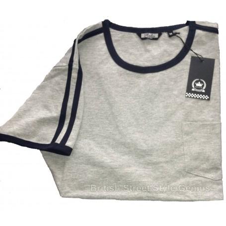 camiseta retro mod gris