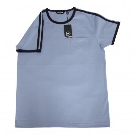 camiseta retro mod azul