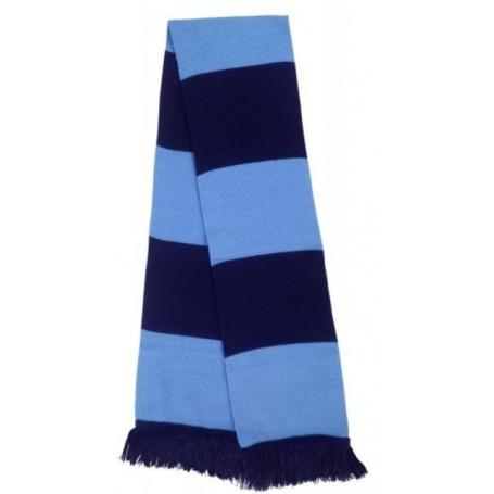 bufanda casual retro futbolera azul cielo y azul marino
