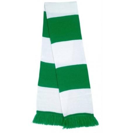 bufanda casual retro futbolera verde blanca