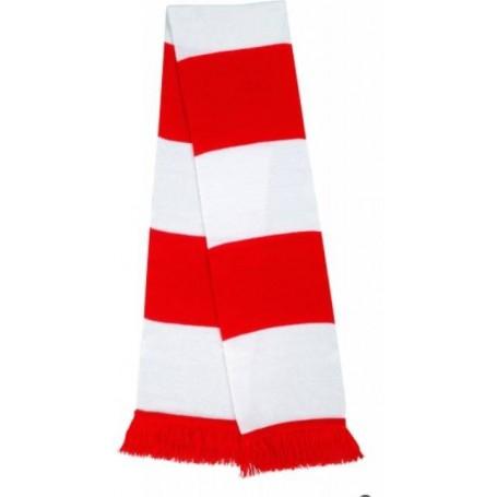bufanda casual retro futbolera roja y blanca