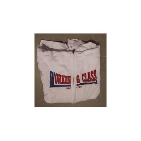 Working Class Records sudadera BLANCA cremallera con capucha CHICO