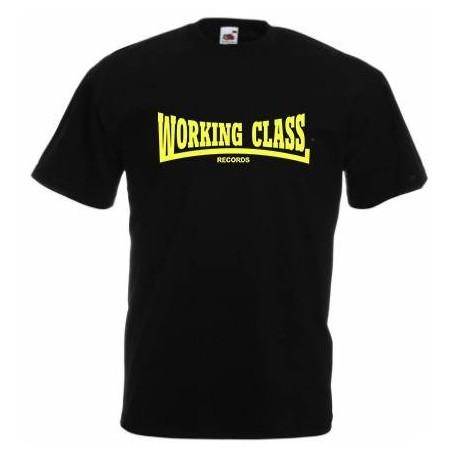 WORKING CLASS negro amarillo camiseta chico