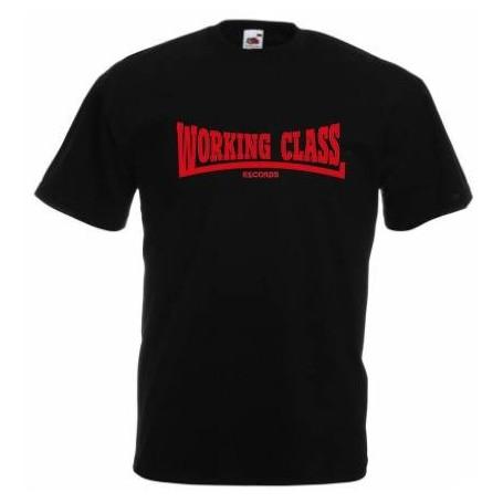 WORKING CLASS RECORDS negro roja camiseta chico