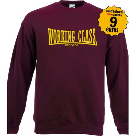 Working class granate sudadera sin capucha