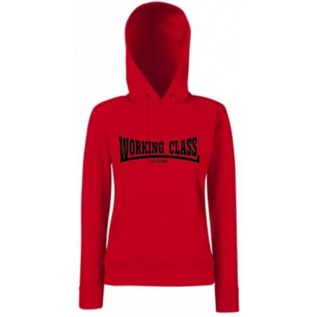 Working class records sudadera roja con capucha chica