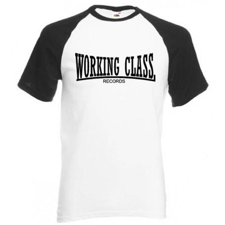 working class records 2 colores blanca negra camiseta