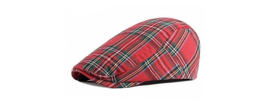 gorra estilo tartan
