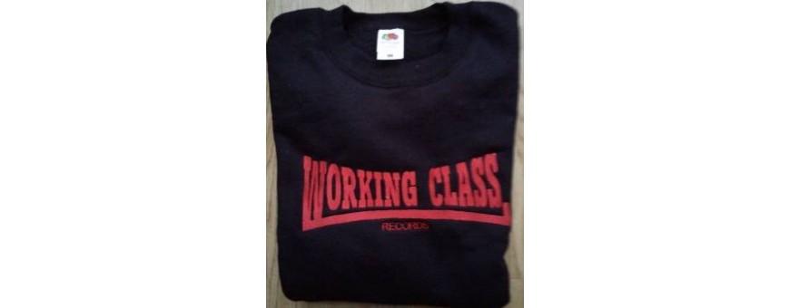 sudadera bordada sin capucha working class