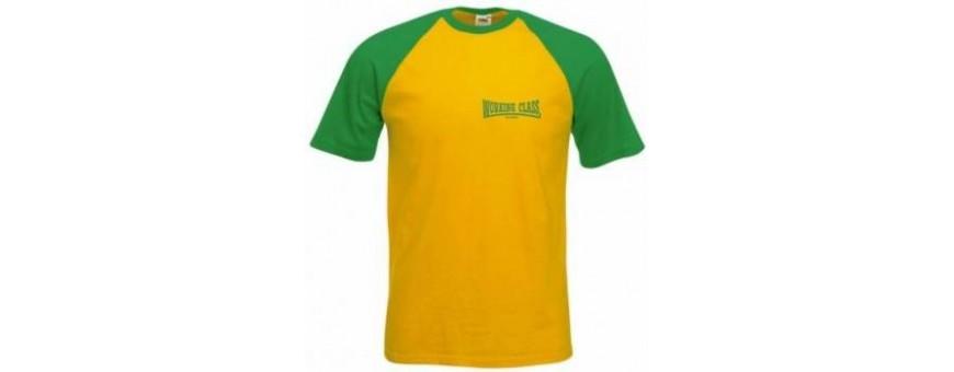 camiseta 2 colores bordada