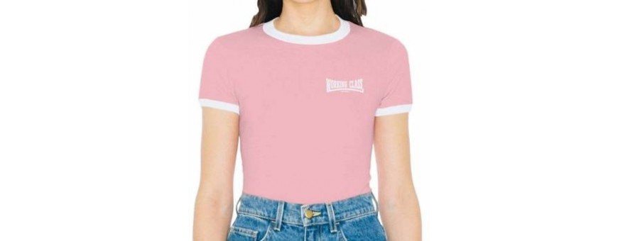 camiseta ringer mujer